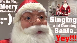 Family Vlog: Animated Singing and Dancing Santa Clause. Christmas House Decoration