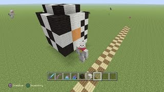 Playstation 4: Minecraft how to build a soccer ball
