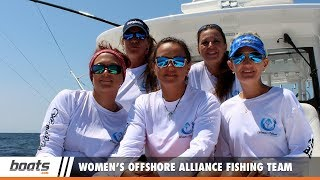 The new Women's Offshore Alliance fishing team (WOA, for short) made their debut at the 2017 White Marlin Open, the world's largest billfishing tournament. We were there for a ride-along on their Eveglades 435 powered by quad Yamaha 350 outboards (!!!), and to find out what WOA and these woman fishermen are all about. Join us for a chat with these angling ladies, and discover WOA at the WMO.Check out some of the other videos in our On the Water playlist: https://www.youtube.com/playlist?list=PLsiC-0C78AkGmo7zIsIKmPu3km-ZqXMFaSee another fishing female make her debut in He Said, She Said: https://www.youtube.com/watch?v=NhkUTTeamQU&list=PLsiC-0C78AkGmo7zIsIKmPu3km-ZqXMFa&index=14Subscribe to our boats.com channel: https://www.youtube.com/user/boatsdotcomFor more boating videos, visit http://www.boats.com.boats.com features boat reviews, how-to videos, special features, and information about new boats, boats for sale, and boating products—usually with a dash of fun.Our reviewers test the features, performance, and specifications of each boat, searching out the hidden details for a critical evaluation. If you're shopping for a boat, we want to help you make the best choice. And if you're just looking, we'll try to make it fun too. Subscribe to receive notification of new videos.