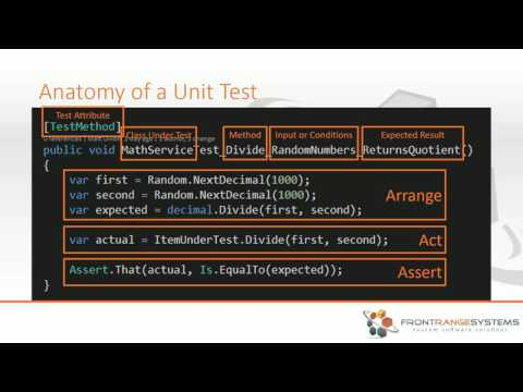 How to Unit Test With C#