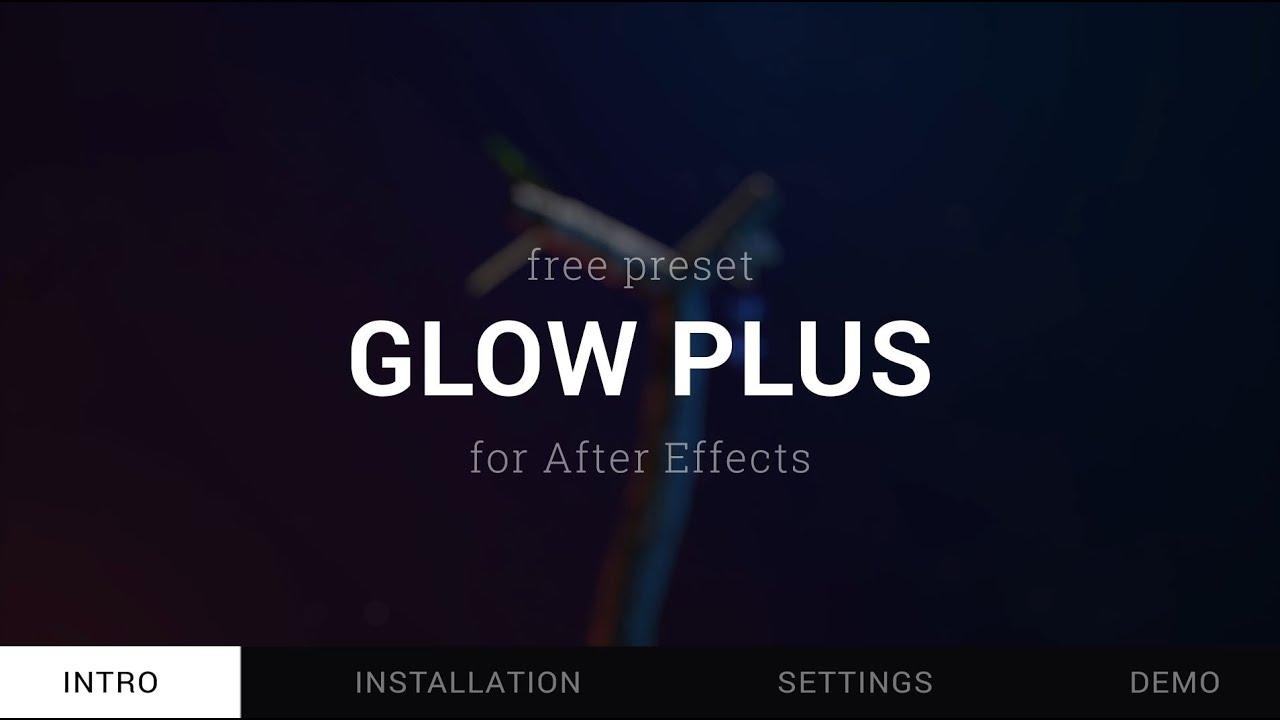【After Effects】Glow Plus – 標準のグローより高機能な無料のアニメーションプリセット