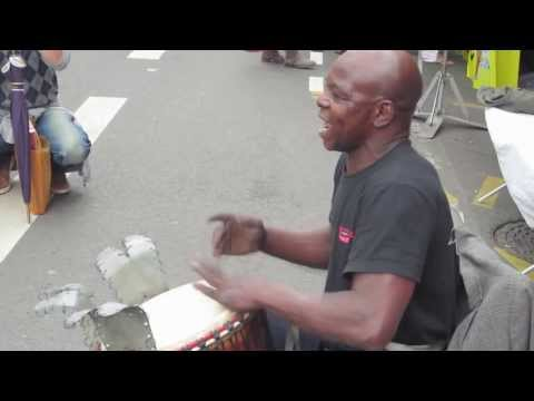 Madou Djembe – Amazing street drummer at Lille Braderie 2013