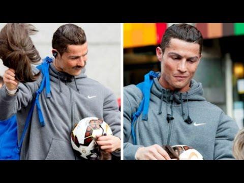 Cristiano Ronaldo Ronaldo hóa thành người vô gia cư đá bóng cư gấy sốt cộng đồng mạng