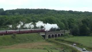 Chesterfield United Kingdom  city images : UK - Flying Scotsman through Chesterfield, 25th June 2016