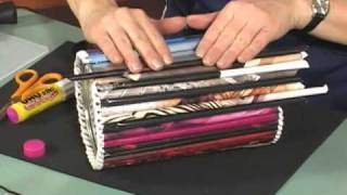 Magazine Roll-up Crafts - YouTube