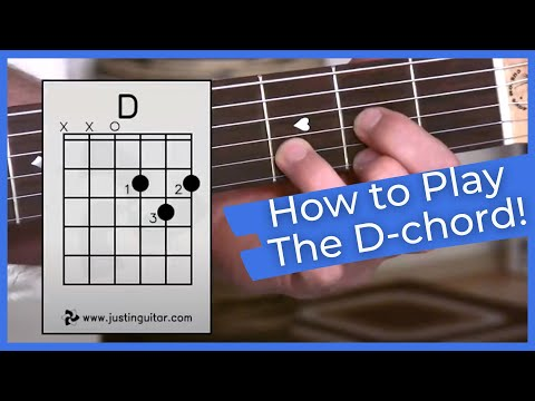Beginner Guitar Lesson Stage 1: The D Chord, Super Easy First Guitar Chord! (BC-111)