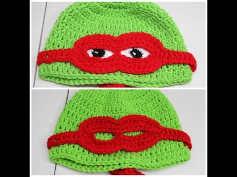 #Crochet Masked Turtle Hat  – Video 1