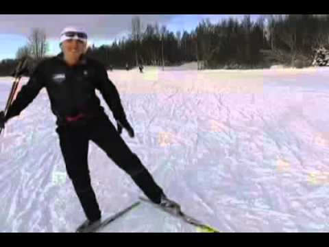 Beginning Skate skiing (видео)