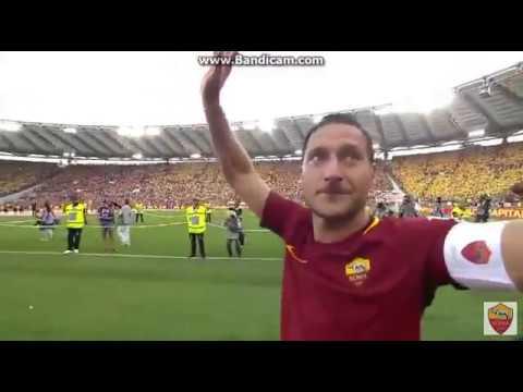 Francesco Totti nimmt Abschied! Eine Legende tritt ab. (видео)
