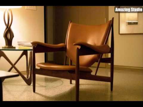 Dänische Möbel Teak Stuhl Mit Lederbezug