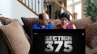 Indians In American React To SECTION 375 Official Trailer | Akshaye Khanna, Richa Chadha, Ajay Bahl