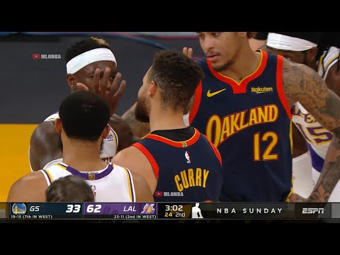 Dennis Schroder was upset at Steph Curry after he got clipped by his elbow   Warriors vs Lakers