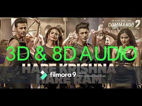 3D Hare krishna hare ram song | 8D Hare krishna hare ram song | commando 2