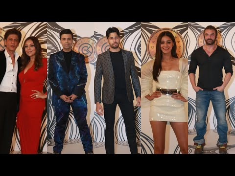 Shah Rukh Khan & Siddharth Malhotra At Gauri Khan Designs For Dharmatic Entertainment's Show