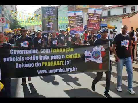 APPMBA participa do desfile cívico em comemoração ao  Dois de Julho e reivindica direitos da tropa