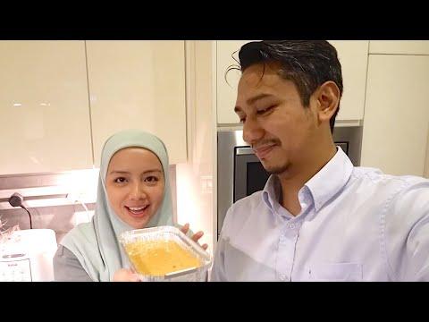 Baking Carrot Cake 🥕🍰 by 'QMB' Mira Filzah💛👩🏻🍳 & Wan Emir❤️🧑🏻🍳 + Jinx Challenge 👫🏻💭