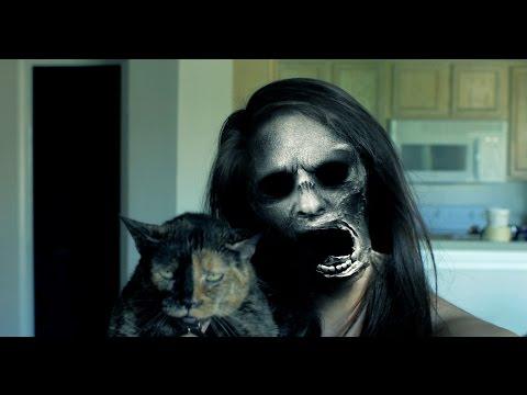 她跟小貓玩換臉APP偵探到不明面部後突然變成恐怖鬼臉,當她下意識的轉頭查看時...太嚇人啊!
