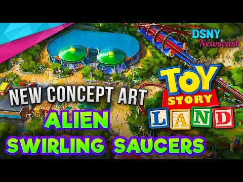 TOY STORY LAND's Alien Swirling Saucers Ride Details at Disney World - Disney News - 2/08/18
