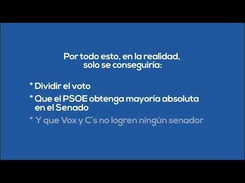 Para que Sánchez no tenga mayoría absoluta en el Senado, vota PP