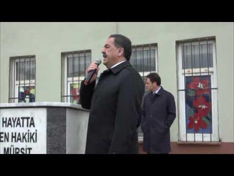 Adnan Köşker ve Mustafa Güler Atatürk Anadolu Lisesi Bayrak Töreni