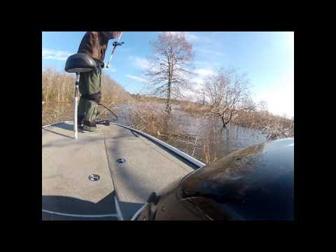 Bass fishing with a Jig
