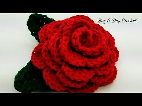 How To Crochet - 3D ROSE FLOWER | Forever Love Rose | BAGODAY CROCHET Tutorial #447