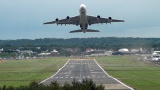 Video 🇲🇾 Impressive Malaysia Airlines A380 Flying at Farnborough. MP3, 3GP, MP4, WEBM, AVI, FLV Agustus 2018