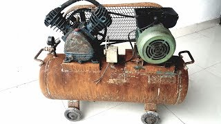 Video Restoration rusty old air compressor | Restore vintage air compressor MP3, 3GP, MP4, WEBM, AVI, FLV September 2019