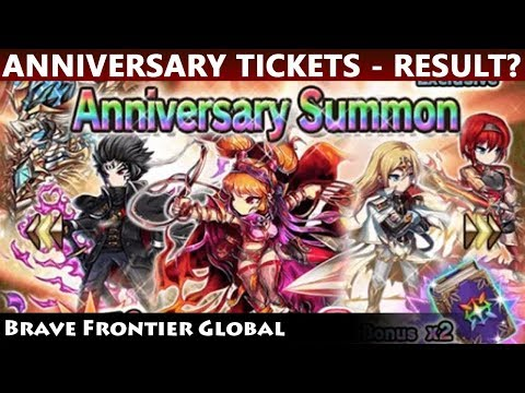 I've Made A Mistake? Spending My Anniversary Summon Tickets (Brave Frontier Global)