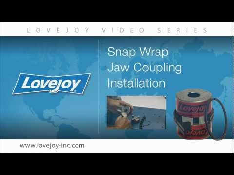 Lovejoy Snap Wrap Jaw Coupling Installation Video thumbnail