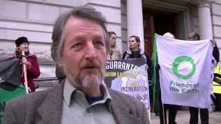 Biofuelwatch, Campaign Against Climate Change, Friends Of the Earth and UKWIN handed a letter into HM Treasury protesting ...