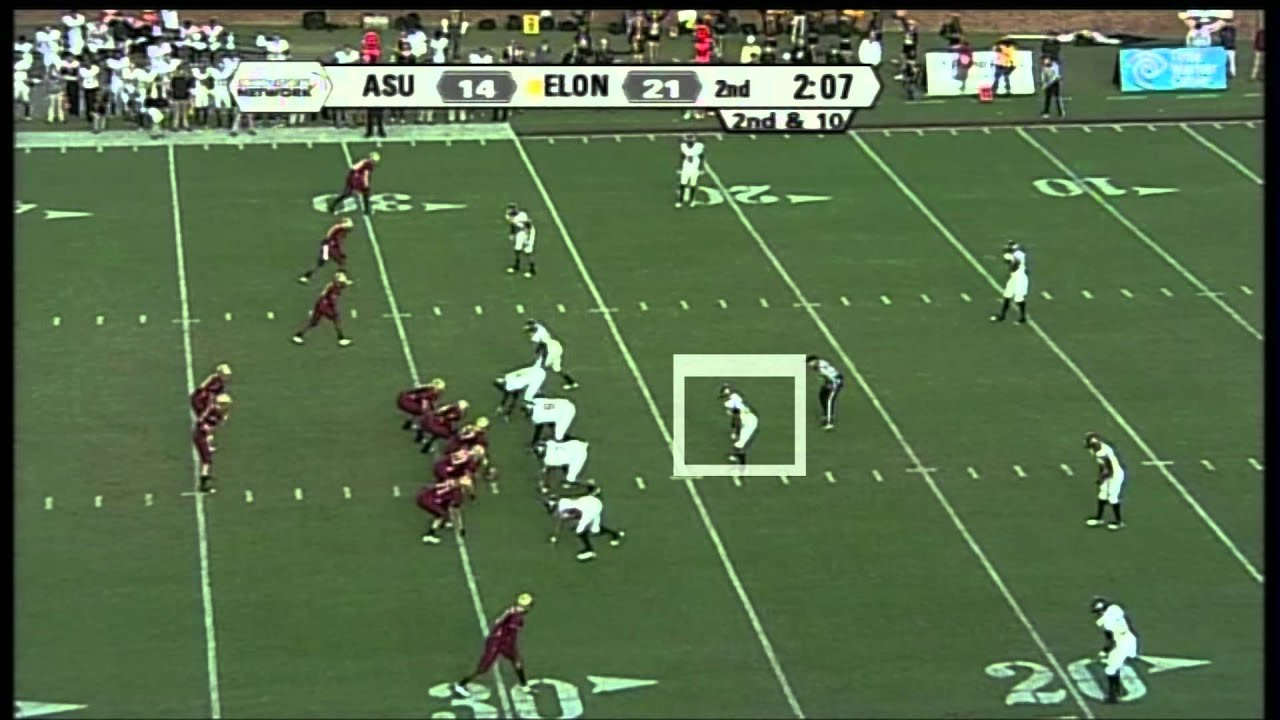 Jeremy Kimbrough ILB (App. State) vs Elon 2011 vs  (2011)