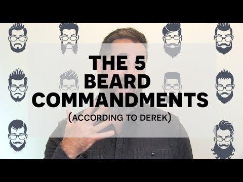 Beard oil - The 5 Beard Commandments  How to Maintain a Beard
