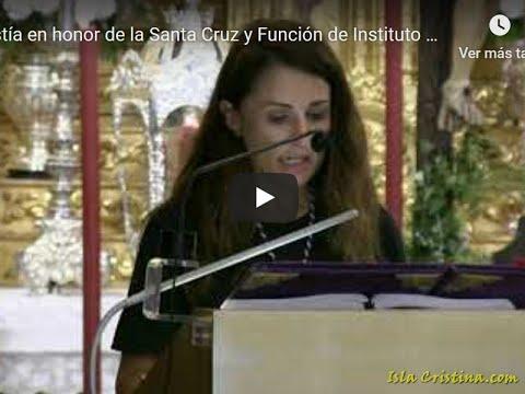 Eucaristía en honor de la Santa Cruz y Función de Instituto del Cristo de la Vida de Isla Cristina.
