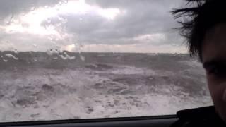 Dawlish United Kingdom  City new picture : Train being battered by 30ft waves UK Dawlish - Scary!