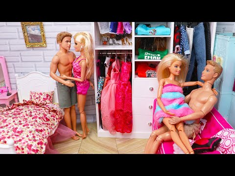 Two Barbie Two Ken ! Bedroom Morning Routine Bunk Bed House Doll Play 인형놀이 드라마 아침 일상 장난감 놀이   보라미TV