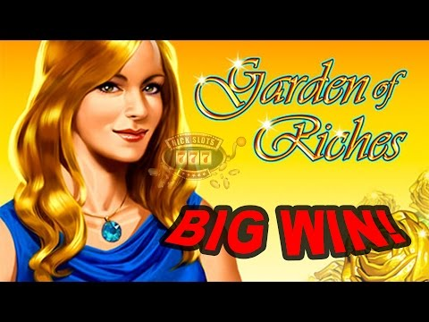 BIG WIN on Garden of Riches Slot -