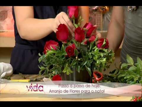 Camila K - Programa Vida Melhor - Arranjo de Flores para o Natal