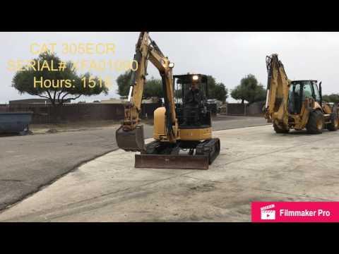 CATERPILLAR TRACK EXCAVATORS 305ECR equipment video yiTjol5n2_o