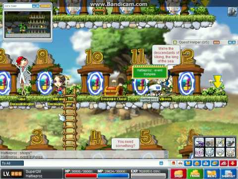 MapleStory Private Server v83 HattieStory v83 Hamachi server gm apps open