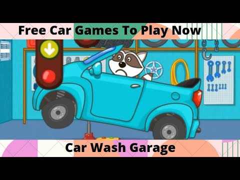 Kids Car Wash Garage  -  Cartoon Games For Kids  Video - Free Car Games To Play Now