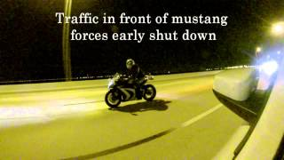 7. 2014 Mustang GT Twin turbo vs 2013 ZX-10R and CBR1000RR ($$ race)