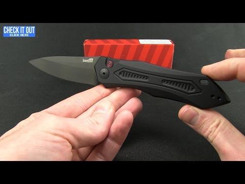 "Kershaw Launch 6 Automatic Knife Red Aluminum (3.75"" Black) 7800RDBLK"
