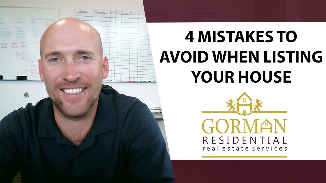 The 4 Biggest Home Selling Mistakes to Avoid