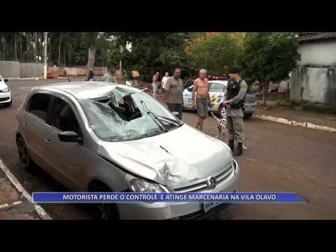 JATAÍ | Motorista perde o controle da direção e atinge marcenaria