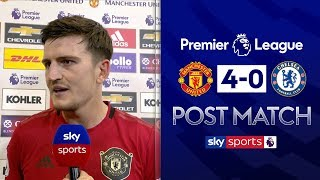 Harry Maguire wants to make Old Trafford a fortress | Post Match | Man Utd 4-0 Chelsea