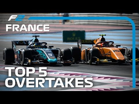 Top 5 Formula 2 Overtakes | 2019 French Grand Prix