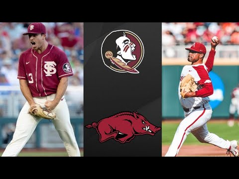 Florida State Vs #5 Arkansas College World Series Opening Round | College Baseball Highlights