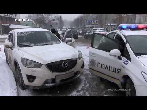 ДТП у Рівному за участю автівки патрульної поліції  [ВІДЕО]
