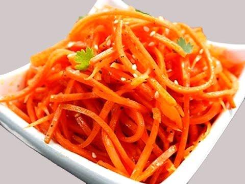Корейский салат из моркови рецепты с
